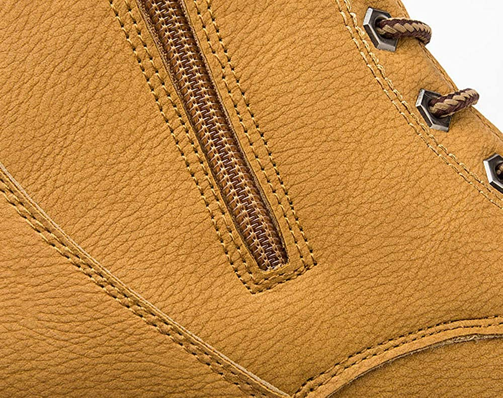 Zapatos de hombre JiaMeng Oxford Zapatos con Cordones Botines Botas de Cuero de otoño otoño con Ribete de Tobillo Plano Botas Casuales de Navidad Zapatos: ...