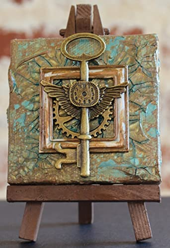 Mini Assemblage Steampunk Canvas With Easel