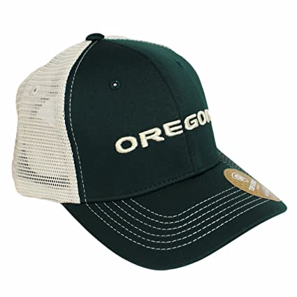 reputable site 792c1 1ad2a Image Unavailable. Image not available for. Color  Top of the World NCAA-Ranger  Trucker Mesh-Adjustable Snapback Hat Cap-Oregon