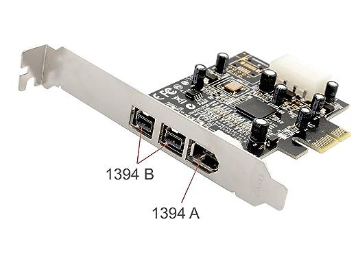 SYBA SY-PEX30016 Interno IEEE 1394/Firewire tarjeta y adaptador de interfaz - Accesorio (PCIe, IEEE 1394/Firewire, 0,8 Gbit/s, Windows 2000,Windows 2000 ...
