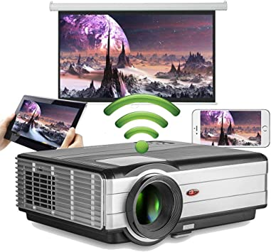 Proyector de Video WiFi Soporte inalámbrico 1080P HD, 4200 lúmenes ...