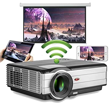 LED Wireless HD 4000 Lumen Home Video Proyector WXGA 1080p Android ...