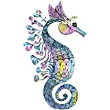 Wallmonkeys Creative Watercolor Seahorse Peel and Stick Wall Decals WM93130 (18 in H x 18 in W)