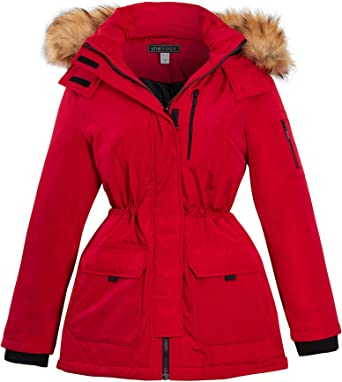 Red Padded Parka Coat