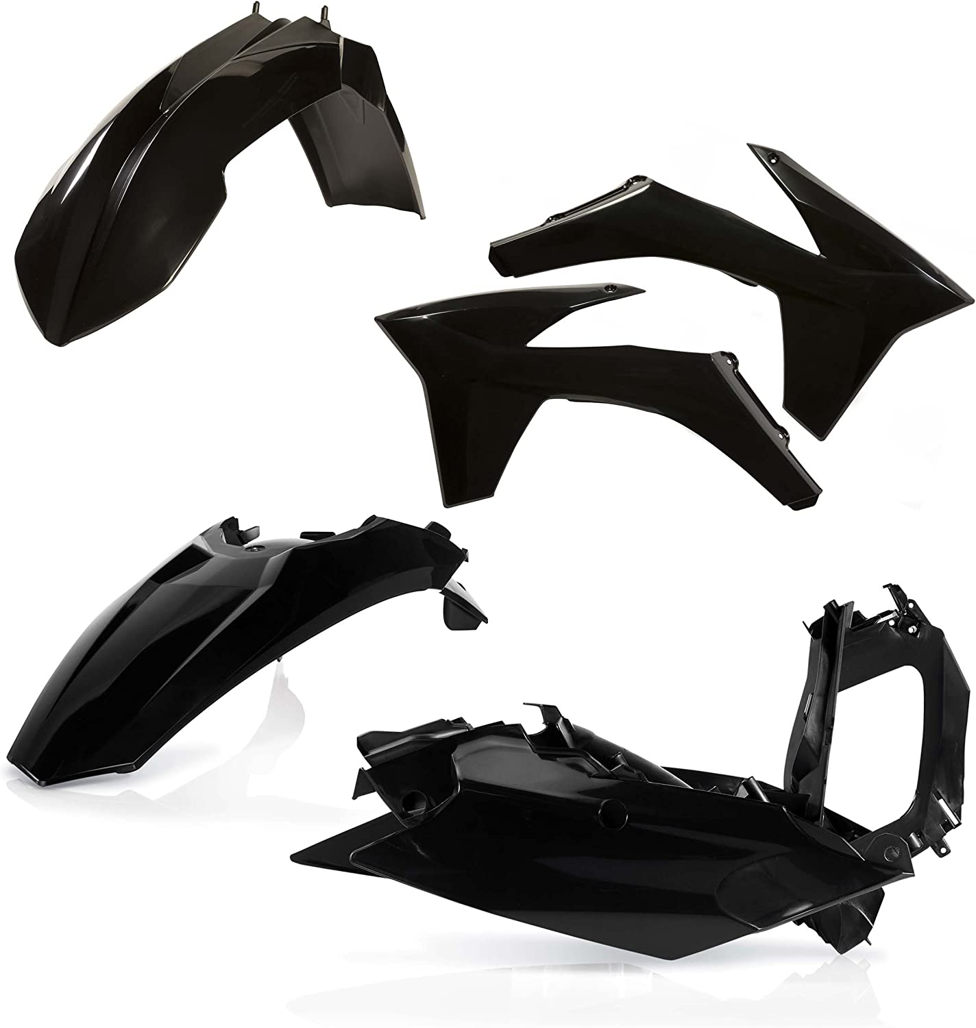Acerbis Plastic Kit Black for 08-17 Suzuki RMZ450