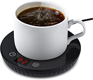 Auto Shut Off Coffee Mug Warmer Sensing Touch Control Smart Temperature Electric Beverage Warmer for Office Home Desk Use,Coffee Milk Tea Keep Hot (Black-3)