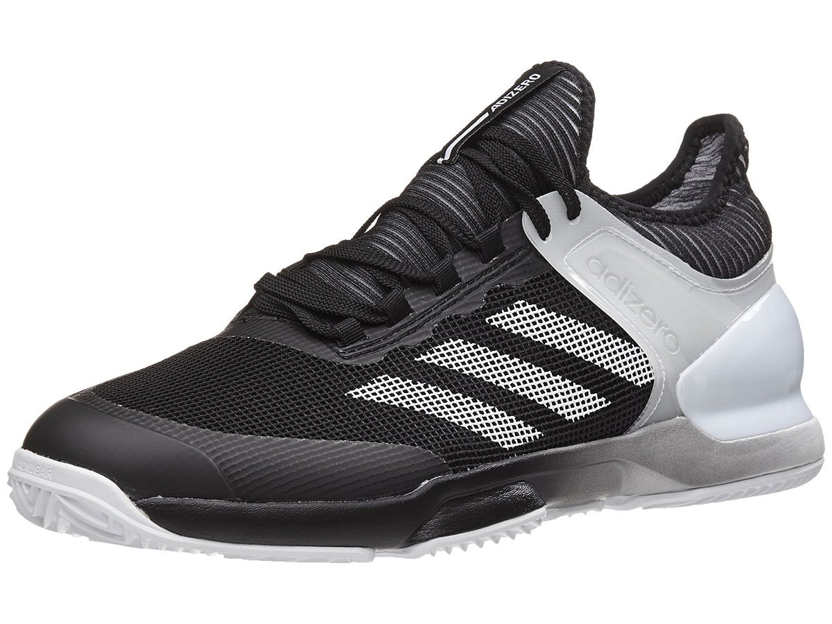 adidas Men's Adizero Ubersonic 2 Clay Tennis Shoe, Core Black/White/White, 10 M US