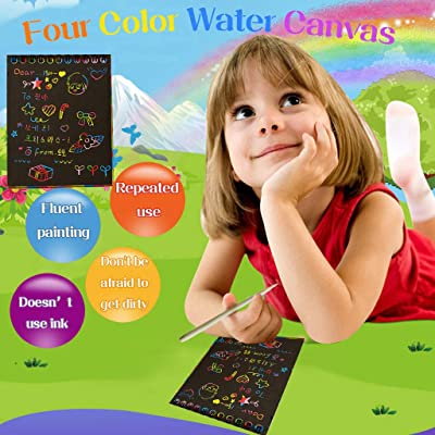 Scratch Art Set, Children DIY Scratch Painting Magic Scratch Paper for Kids Colorful Free Graffiti Book 10 Pages 10x14cm (Black): Toys & Games