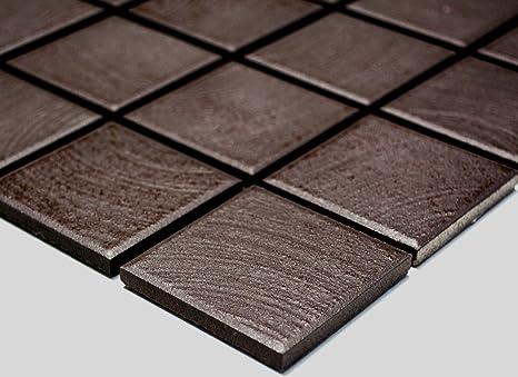 Rete mosaico mosaico piastrelle quadrato tinta unita marrone