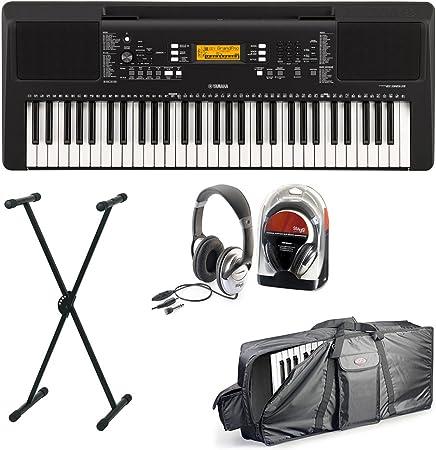 Yamaha 363 Keyboard Set II con soporte, cascos y funda ...