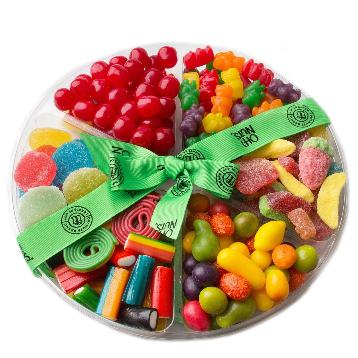 Kosher Camp Packages and Gifts - Kosher Snack and Kosher Candy - Oh! Nuts (6 Section Candy and Gummy Assortment)