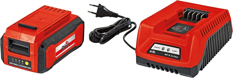 Grizzly Batería de Aspirador soplador como 4025 Lion con 1 Batería ...