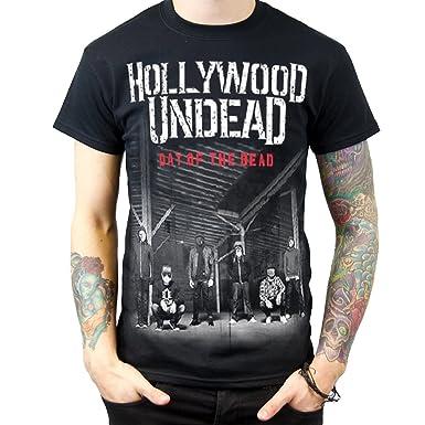 906711fbda9 Amazon.com  Rockstar Hollywood Undead Day of The Dead Men s Tshirt Black   Clothing