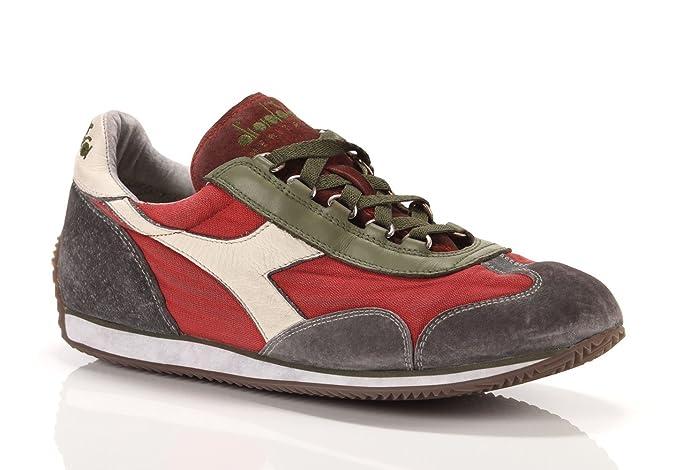 DIADORA HERITAGE EQUIPE SW Sneaker uomo grigio rosso