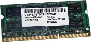 HP 2GB 2Rx8 PC3-10600S DDR3 SODIMM Memory 598856-002
