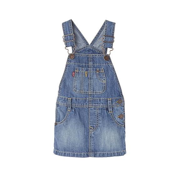 8fc3a558ce6 Levi's Girl's SALY Pinafore Dress, Blue (Georgia Peach 46), 12-18 ...