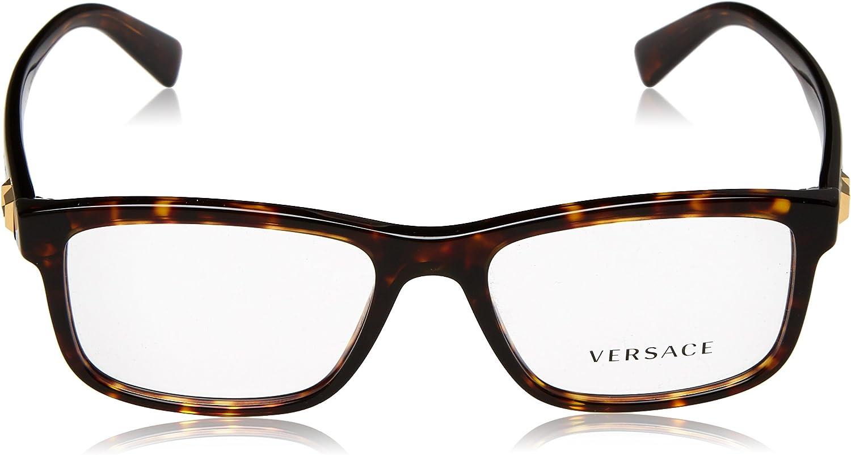 Dark Havana Versace 0Ve3253 Monturas de Gafas 55 para Hombre