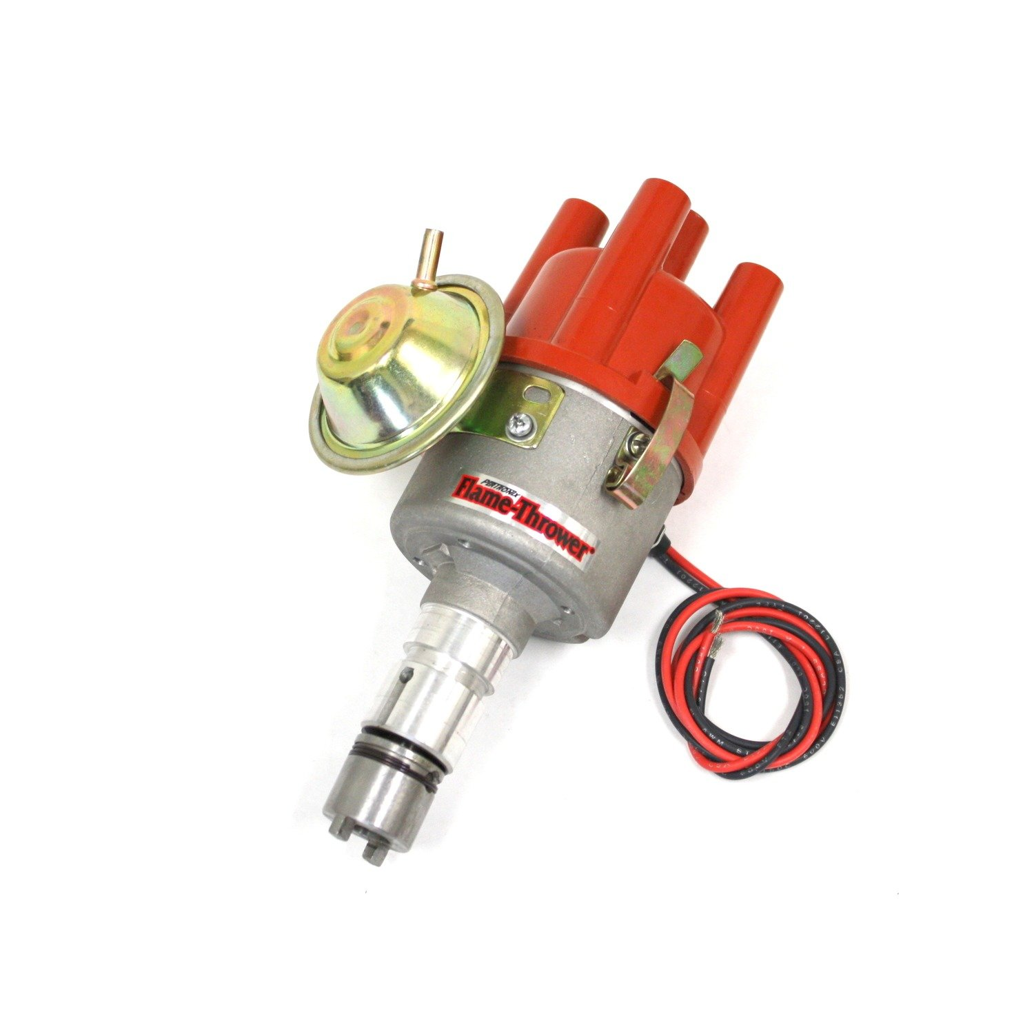 Pertronix D185504 Flame-Thrower Plug and Play Vacuum Advance Cast Electronic Distributor with Ignitorfor Alfa Romeo