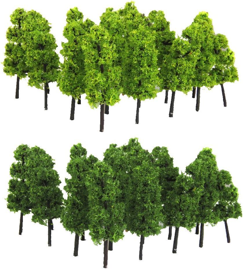 100pcs Modèle Arbre Feuilles Miniature Paysage pour Train Maquette
