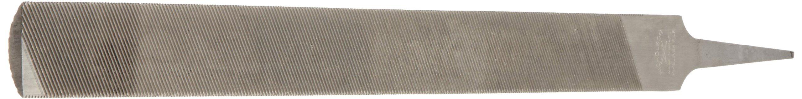 Nicholson Hand File (Boxed), American Pattern, Double Cut (Single Cut on Back/Flat Sides), Half-Round, Coarse, 14'' Length