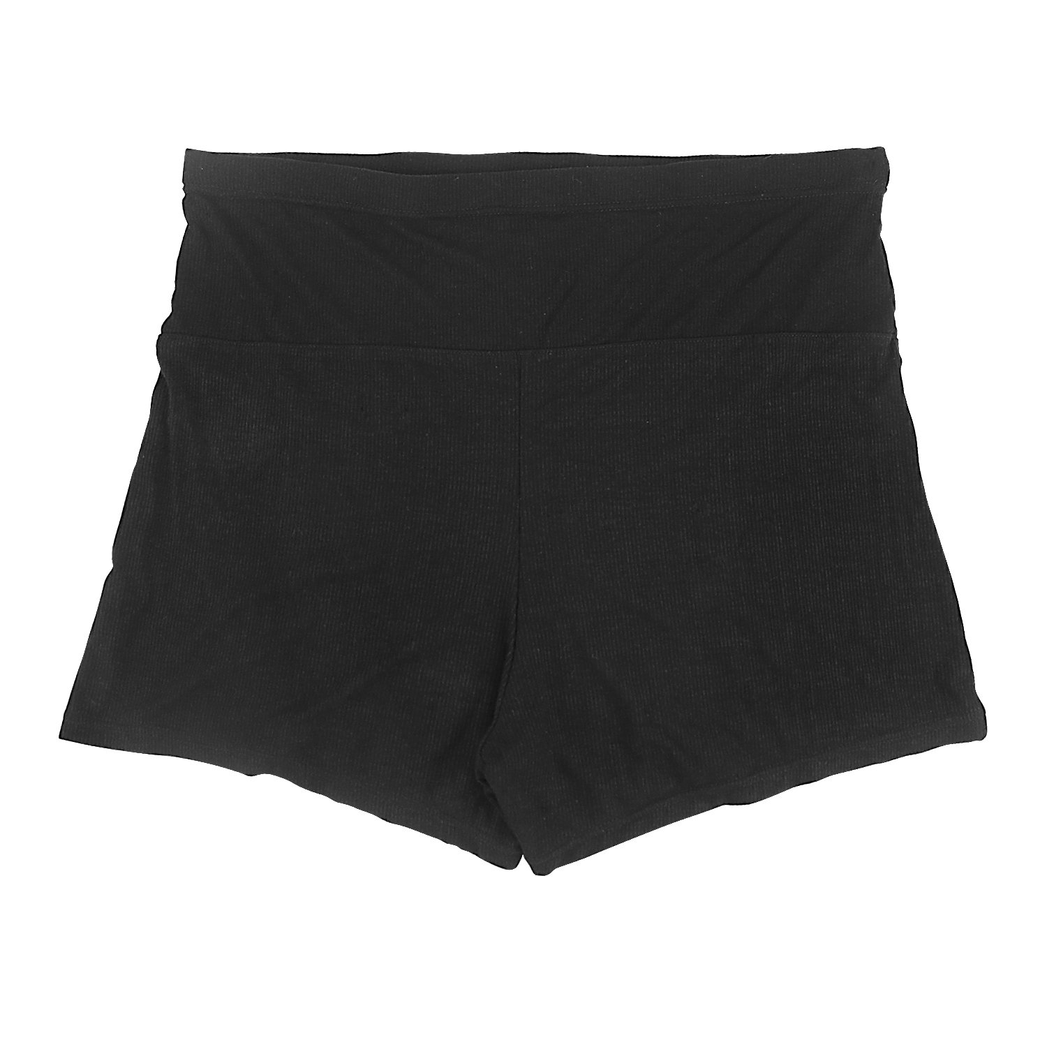 METALIFE Cotton Black Maternity Shorts Pants for Pregnant Women L