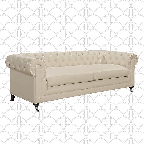 Elle Decor Amery Chesterfield Tufted Sofa