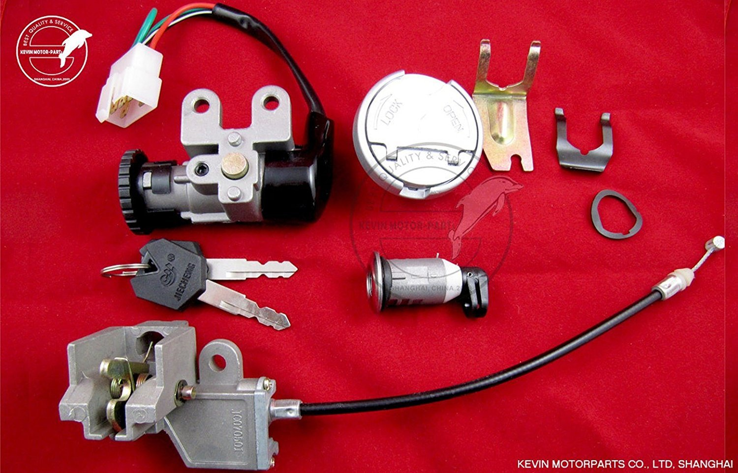 Ignition Switch Lock set for Chinese Gy6 50cc Baotian BT49 Taotao Scooter Moped