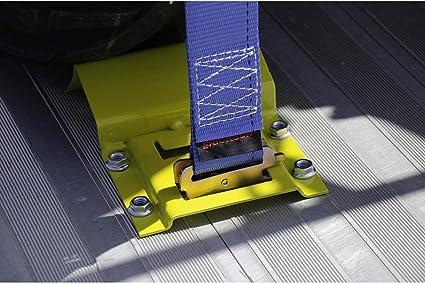 Heavy Duty Erickson Wheel Chock Tie-Down Straps Kit Atv Mower Secure Accessories