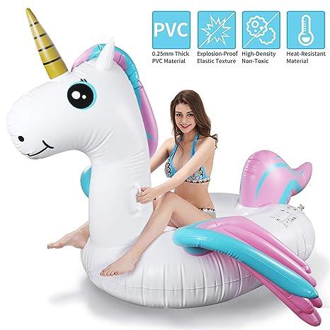 Tencoz Piscina Flotador, Hinchables Juguete Piscina Inflable Flotador para Adultos y Niños Hinchables para Piscina