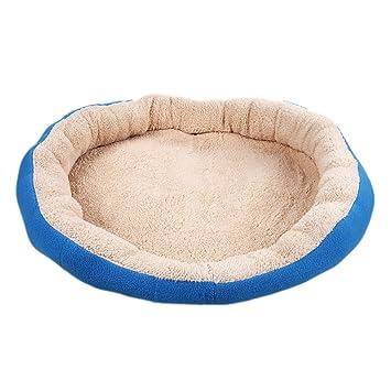 Vktech-perro y Gato caliente suave camas para mascotas Almohada Cama Cachorro Sofa Sofa Mat perrera Pad Color Azul Tamaño 18.89x16.53x3.15 pulgadas: ...
