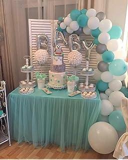 PuTwo Globos 56 Piezas Globos Cumpleaños de Látex & Letra Globos Foil Decoración de Fiesta para