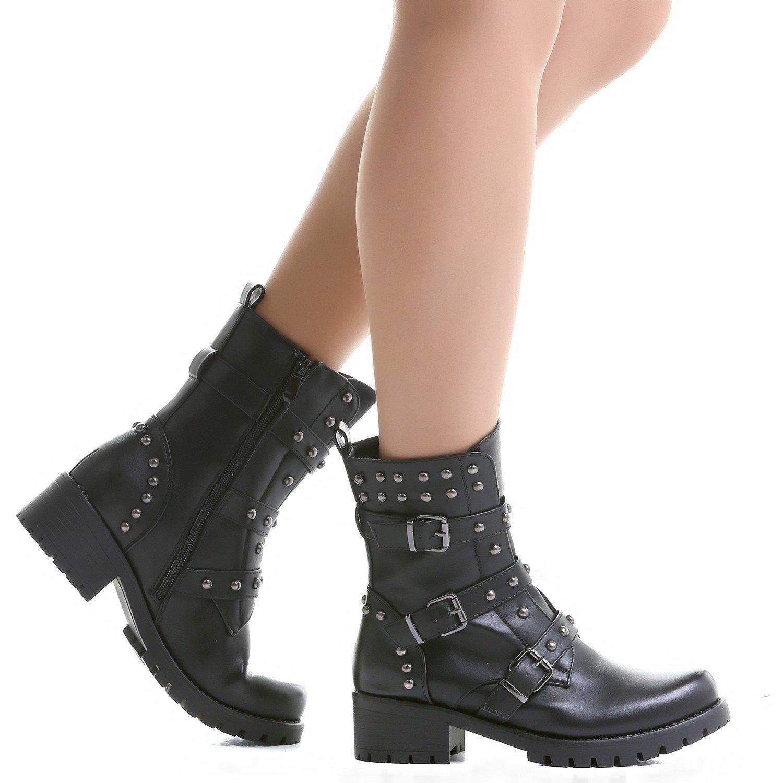 Crazyinlove - Botines con Tachuelas y Hebillas - 39: Amazon.es: Zapatos y complementos