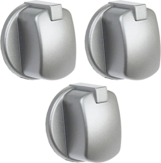 Pack of 1, Silver SPARES2GO Control Knob Switch Button for Indesit Cooker Oven