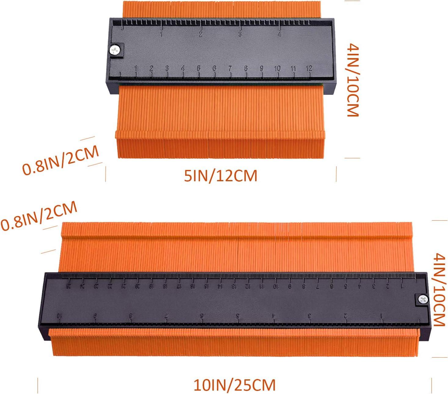 Outil de duplicateur Tuyaux de Bobinage Copieur de Profil pour Jauge de Profil pour conduits en Plastique Jaune Cadres Circulaires