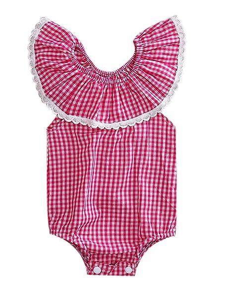 7504d812f99 Amazon.com  2017 New Baby Girls Blue Floral Tassel Romper Bodysuit  Clothing