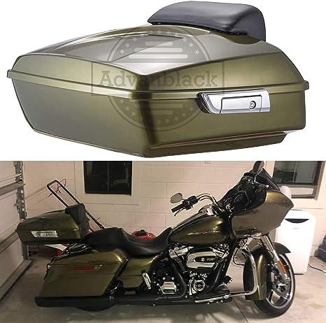 King Tour Pak Pack Trunk w// Backrest Pad For Harley Touring Models 2014-2019 US