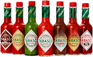product image for TABASCO Pepper Sauce Chrome Caddy with 7 Family of Flavors
