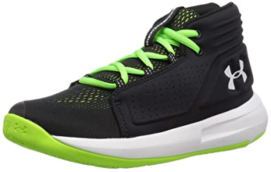 9c80d8c90555e5 Under Armour Boys  Pre School Torch Mid Basketball Shoe Black (001) Hyper