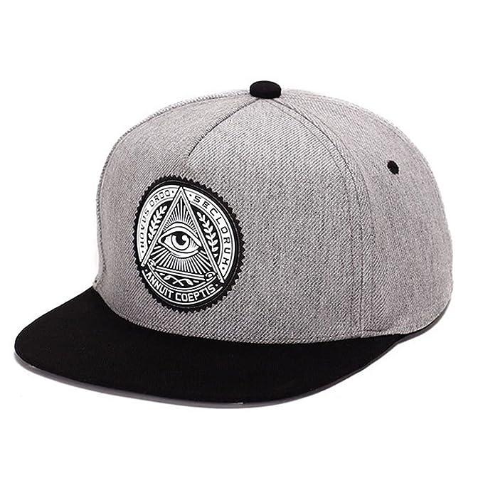 King Star Men Solid Flat Bill Hip Hop Snapback Baseball Cap Eye-Grey   Amazon.ca  Clothing   Accessories 3bb0b895e163