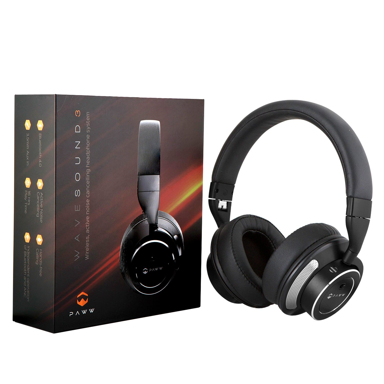 amazon com paww wavesound 3 bluetooth headphones active noise