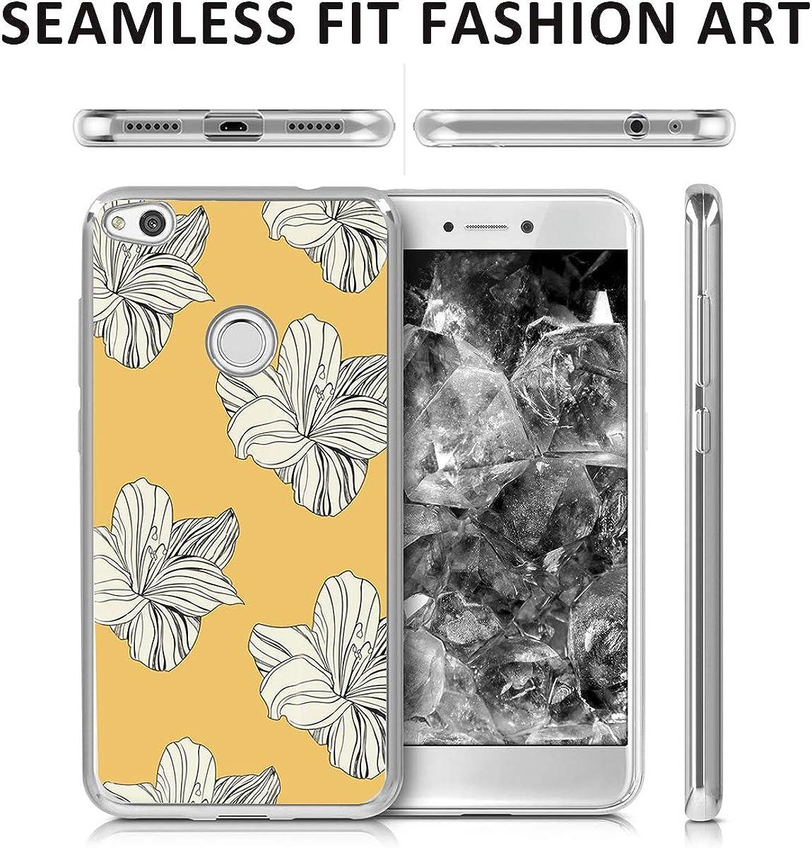 Qissy Carcasa Huawei P8 Lite 2017 // Honor 8 Lite//Nova Lite Gel TPU Silicona Flexible Cubierta Ultra Slim Cut Animals Suave Protective Case Cover Skin para Huawei P8 Lite 2017 5.2 Pulgadas