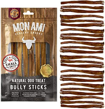 Mon Ami Bully Stick Small 5-6 inch 9oz. 20 Units Natural Dog Treat - Argentinian Meat