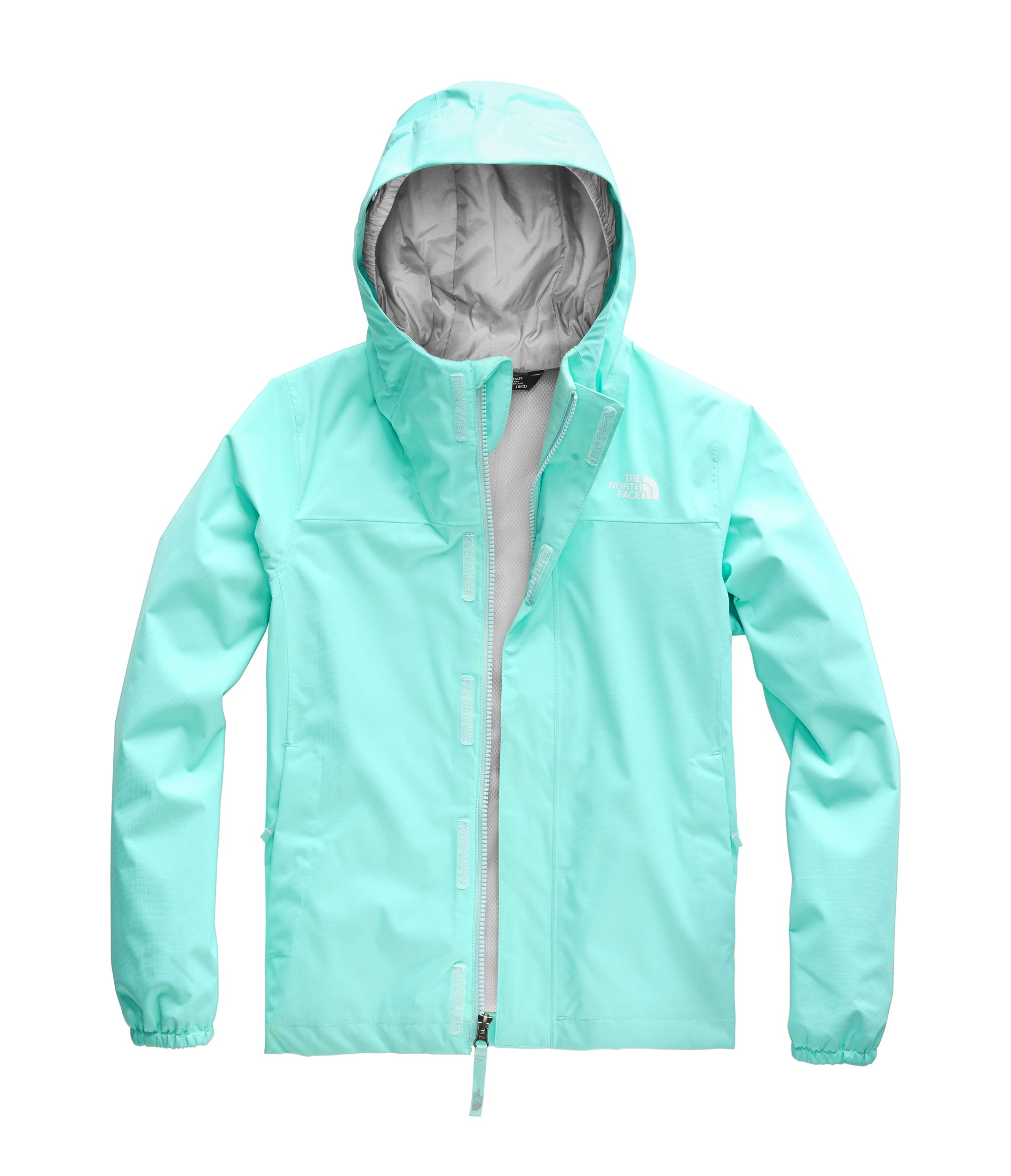 The North Face Girls' Resolve Reflective Jacket, Mint Blue, Medium