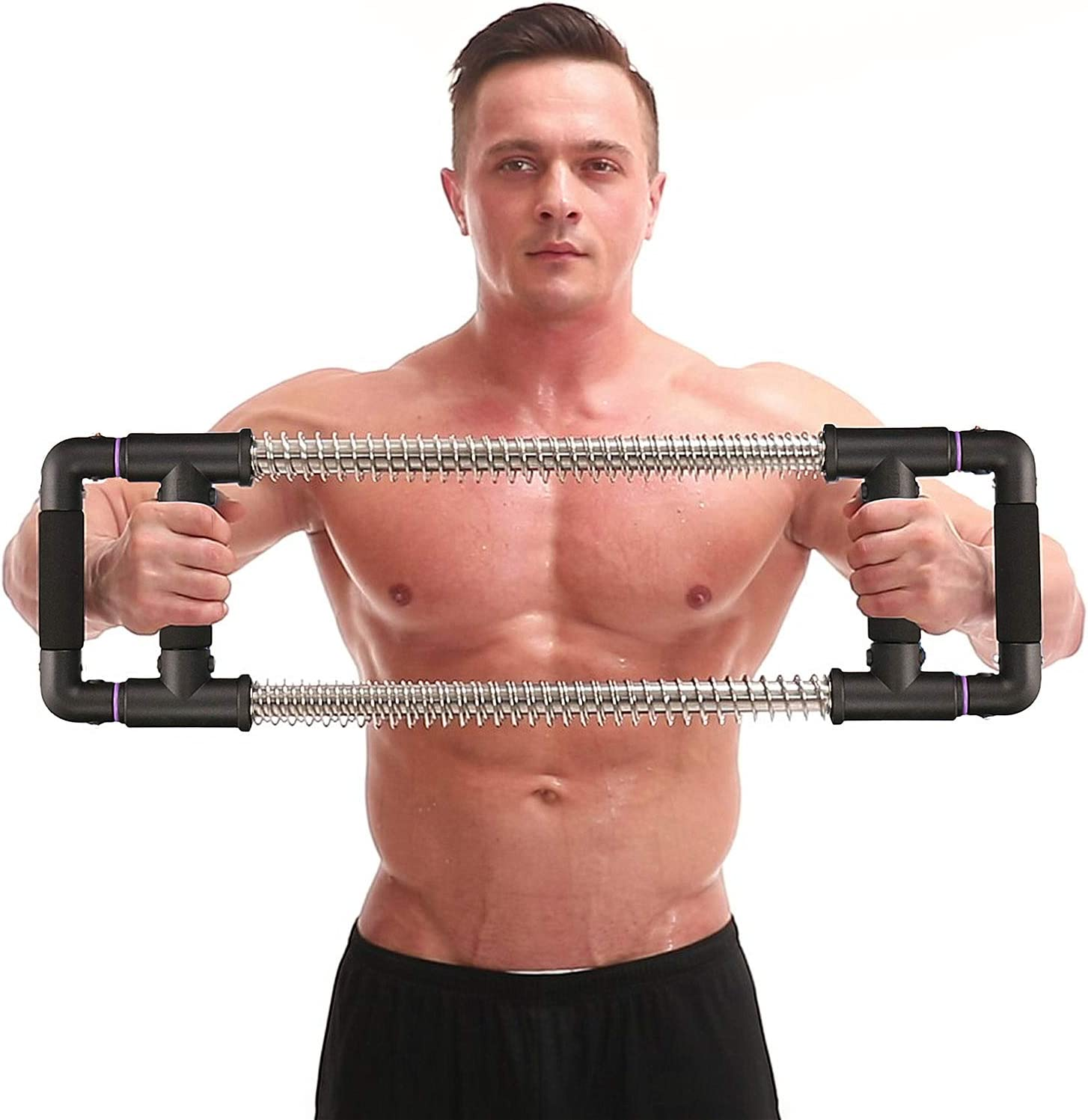 GoFitness Push Down Machine - Chest Expander Portable Gym Equipment for Exercise at Home, Office or Travel - Upper Body Workout: Build Muscle, Strength Training