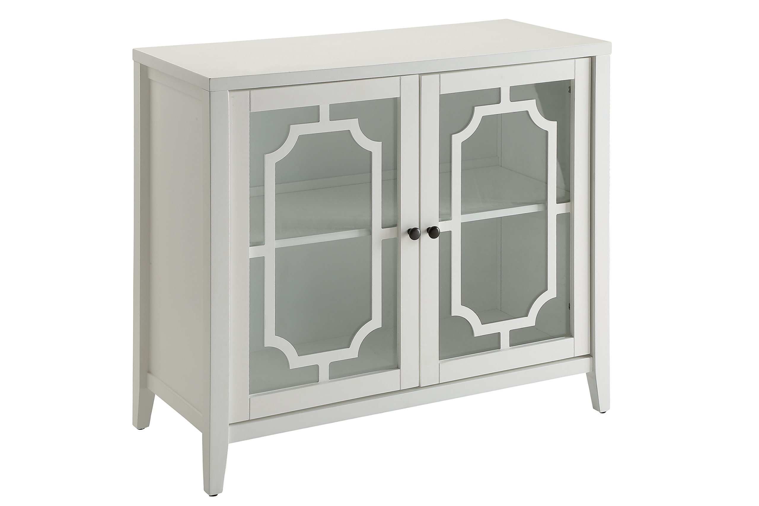 ACME Furniture cabinet, One Size, White by Acme Furniture