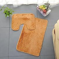 Gaddrt 3pc Badezimmer Set Teppich Contour Mat WC Deckel Abdeckung Plain Solid Color Badematten