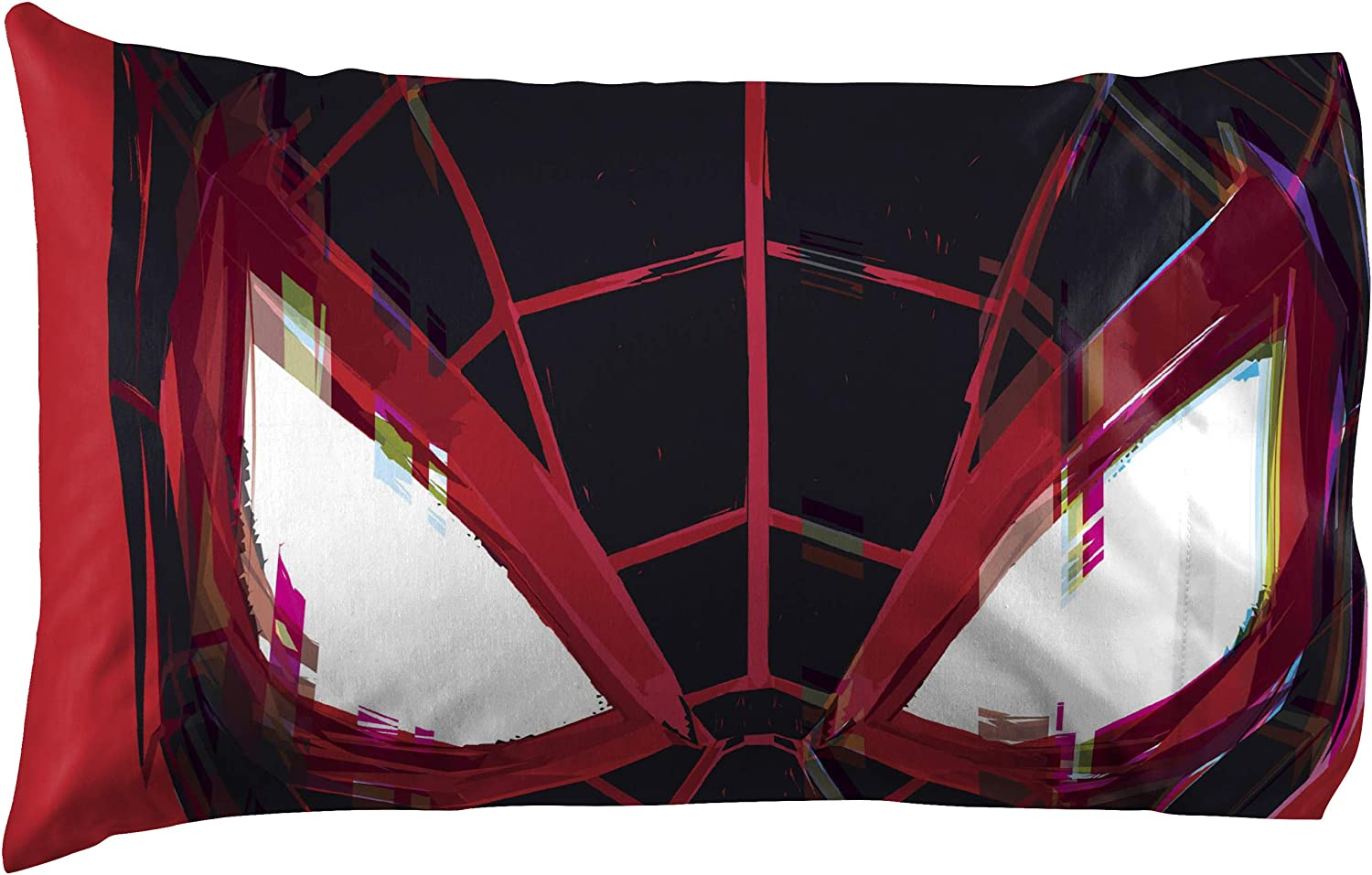 Jay Franco Marvel Miles Morales Gamerverse Be Greater 1 Single Reversible Pillowcase Double-Sided Kids Super Soft Bedding Official Marvel Product
