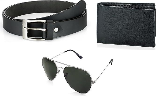 3f41048fc94 Rico Sordi Wallet Belt With Black aviator Sunglasses For Men (RSD704 WSGB)