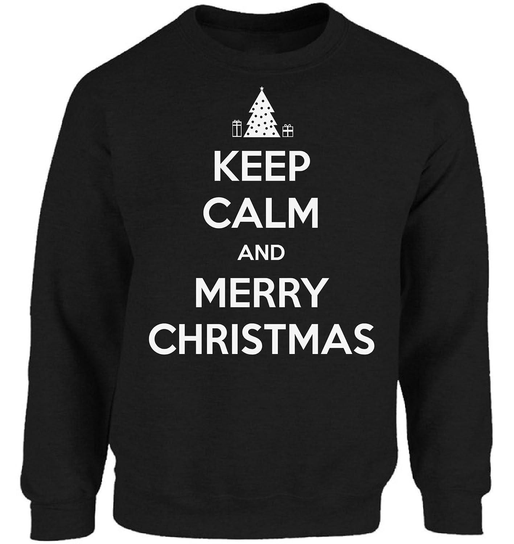Vizor Keep Calm And Merry Christmas Sweatshirt For Men and Women ...