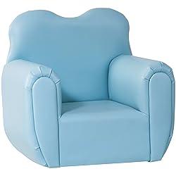 Harper & Bright Diseños Kids de sofá Niños reposabrazos silla, Azul